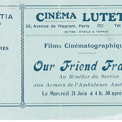 Cinema Lutetia, Parigi, proiezione di Our Friend France.