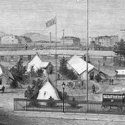 Primo ospedale americano, 1870