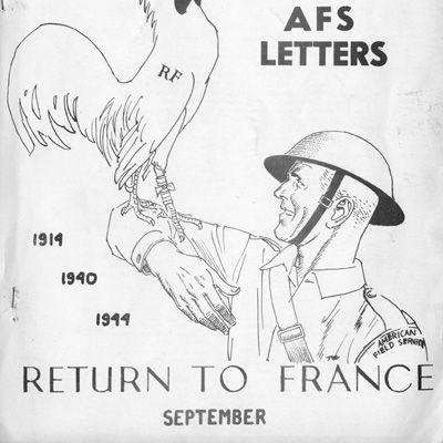 """Copertina del bollettino """"AFS Letters"""", numero 29. Settembre 1944"""